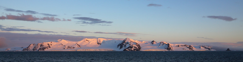 Sunrise in the South Shetland Islands