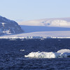 Glacier and icebergs @ 2:00 AM.  Facing the Tabarin Peninsula west of Joinville Island.  Antarctic Peninsula.