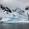 Iceberg with Mountain Backdrop, Antarctica