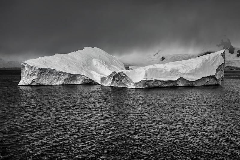 Angular Iceberg B&W