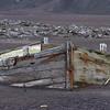 Abandoned dingy on Deception Island