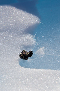The second Union Glacier meteorite at rest on the blue ice