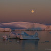 Moonrise over the Chrystal Channel - February 3, 2015