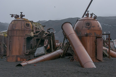 Former whaling station in Deception Island, Antarctica