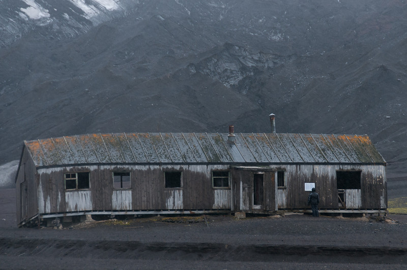 Abandoned whaling station in Deception Island, Antarctica