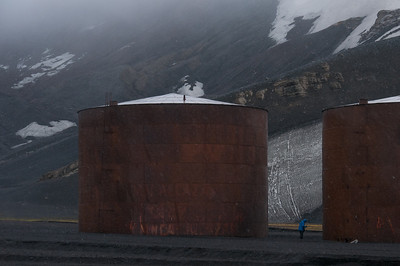 Abandoned whaling station on Deception Island