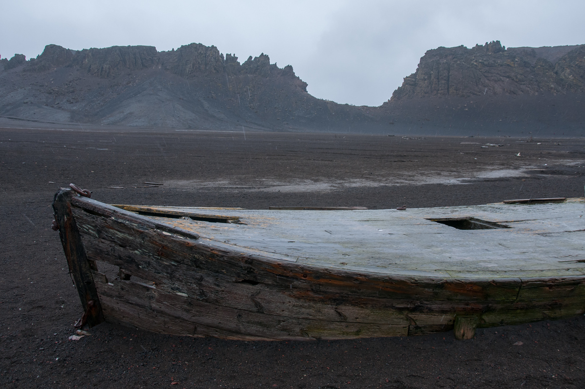 Abandoned Whaling Ship on Deception Island, Antarctica