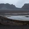Abandoned whaling ship on  Deception Island, Antarctica