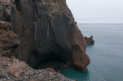 Coast cliffs in Deception Island, Antarctica