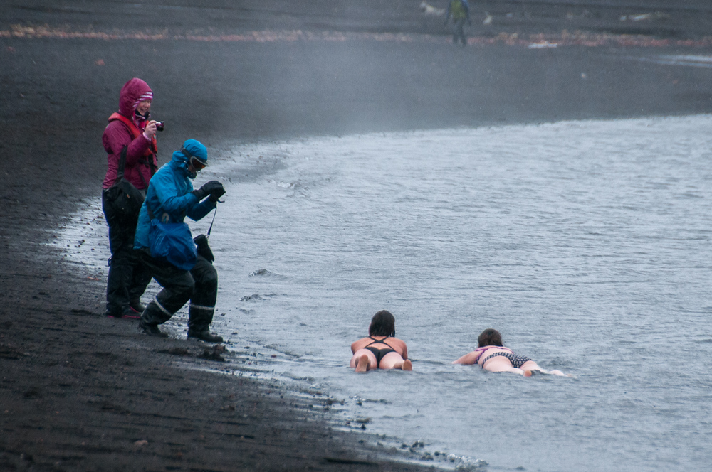 Taking a Dip on Deception Island, Antarctica