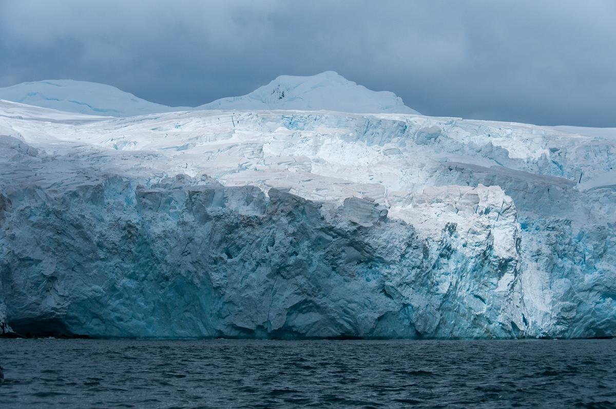 Sunlight on a Glacier on Elephant Island, Antarctica
