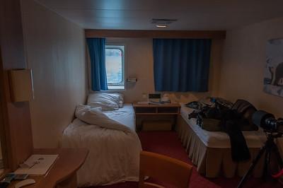 Hotel room in Elephant Island, Antarctica