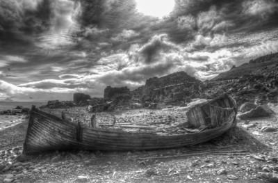 Abandoned whaling boat on Half Moon Island, Antarctica