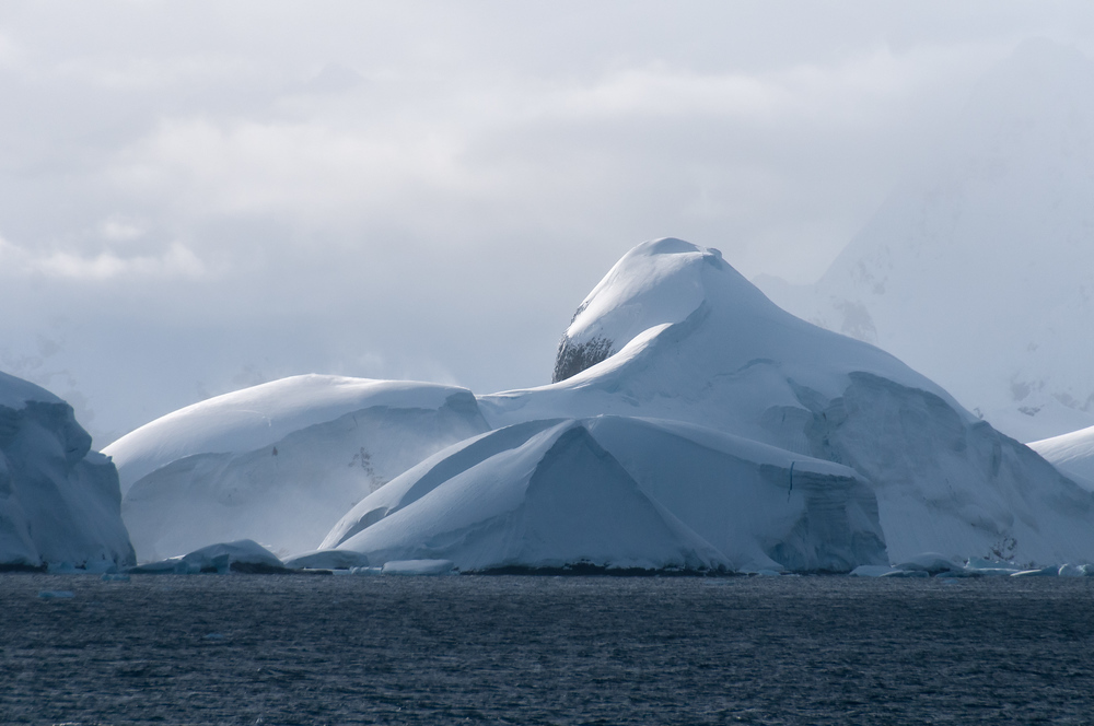 Snowscape in the Lemaire Channel, Antarctica