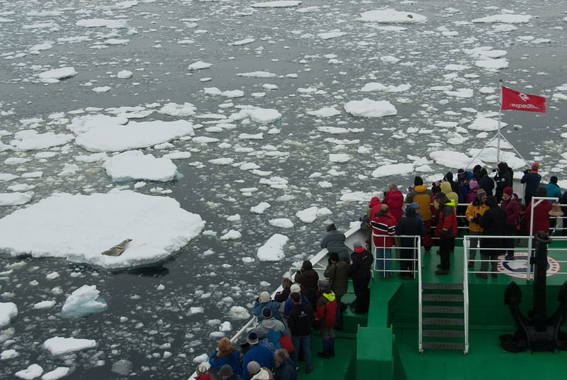 View of Lemaire Channel from the M/S Expedition - Antarctica