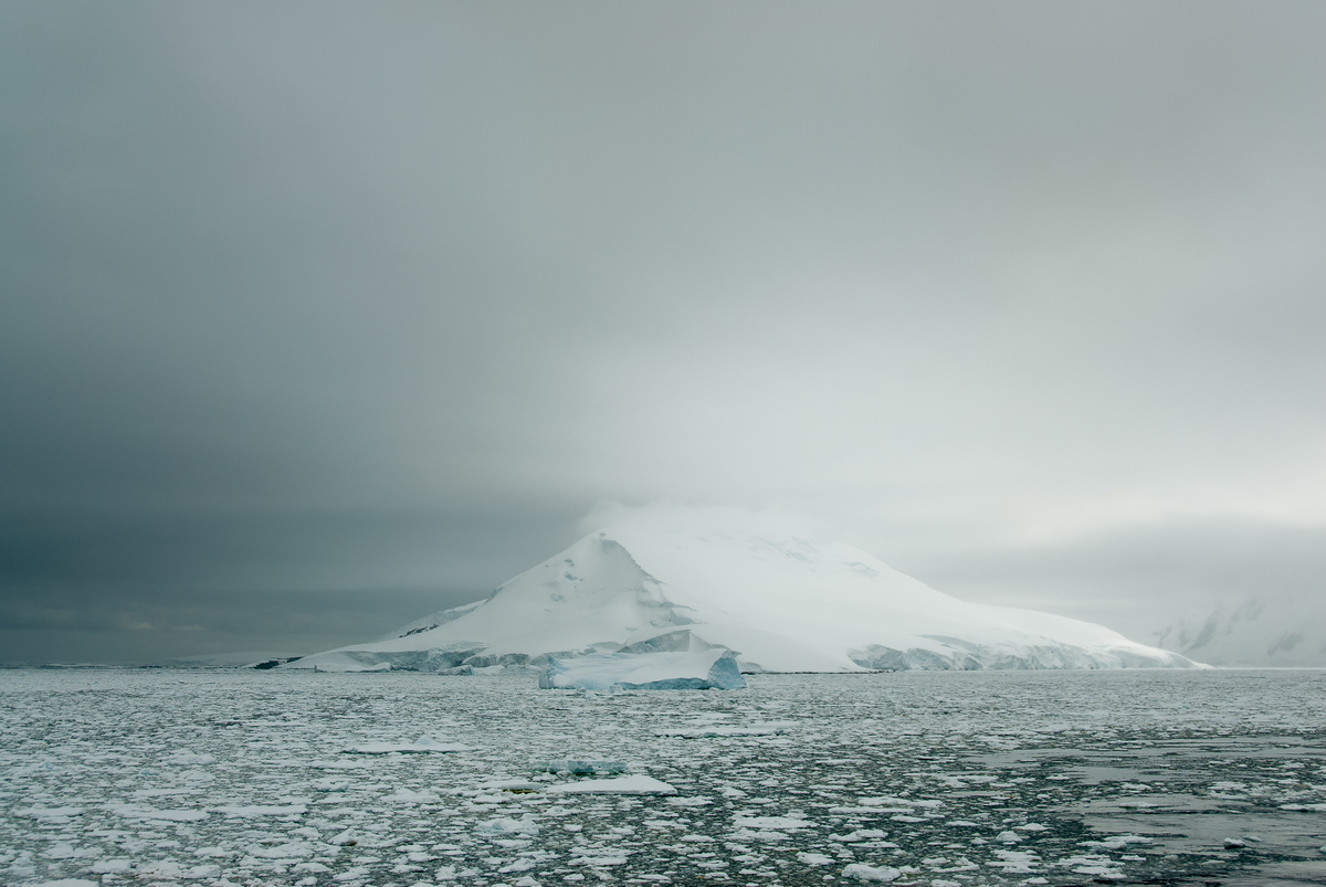 Pack Ice in the Lemaire Channel, Antarctica