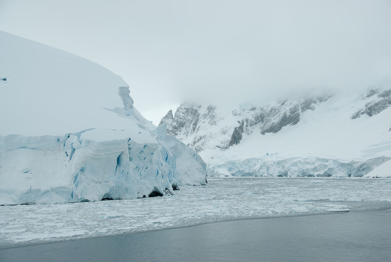 Glaciers at Lemaire Channel in Antarctica