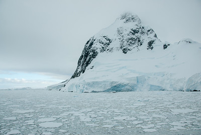 Mountain and pack ice in the Lemaire Channel