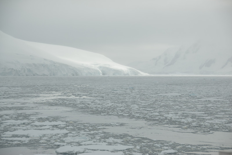 Glaciers in Lemaire Channel, Antarctica