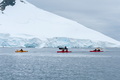 Kayaking in Paradise Bay, Antarctica
