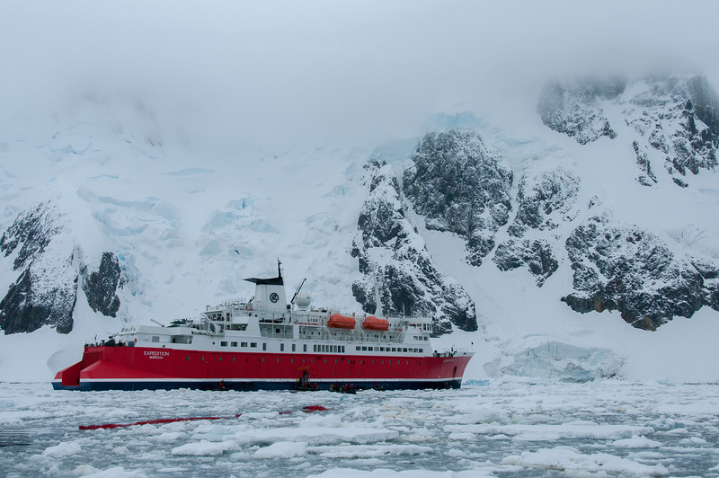 The G Expedition in the waters of Antarctica