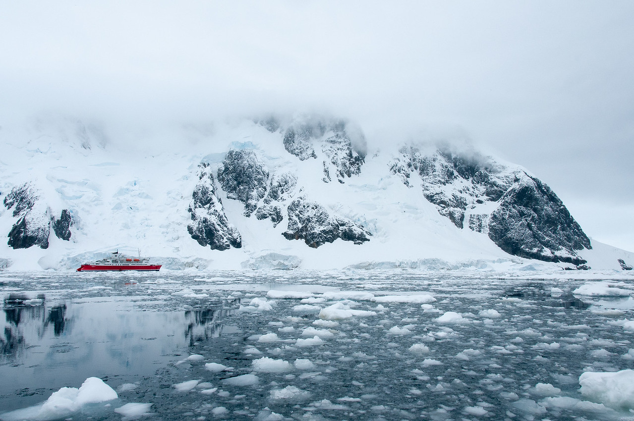 Floating ice in Pleneau Bay, Antarctica