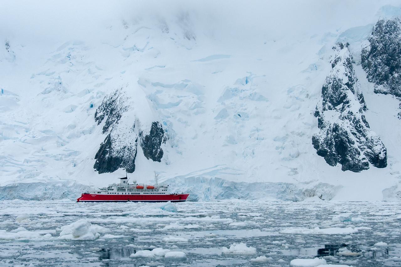 M/S Expedition in Pleneau Bay, Antarctica