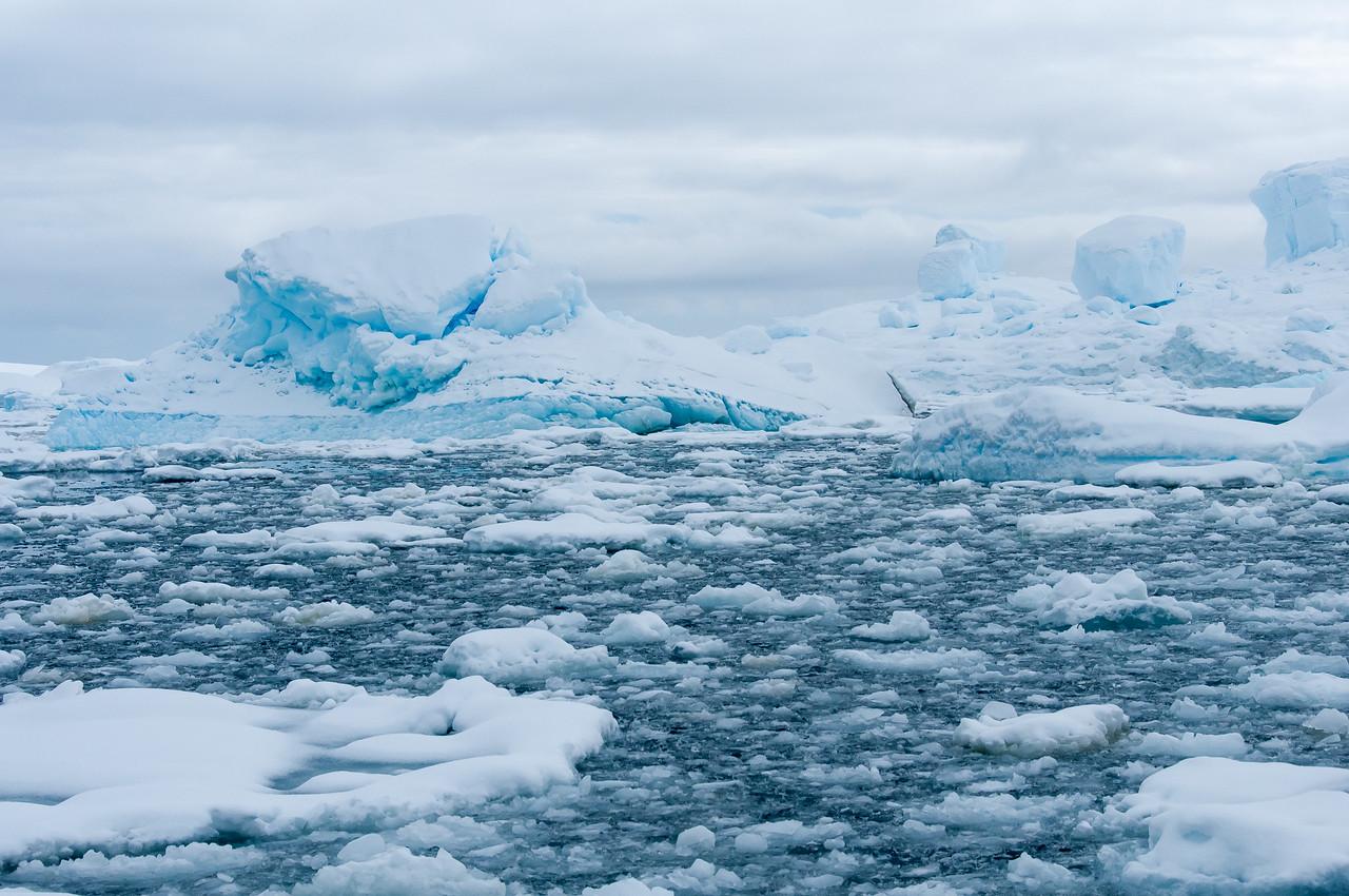 Floating ice in Pleneau Bay, Antarctica
