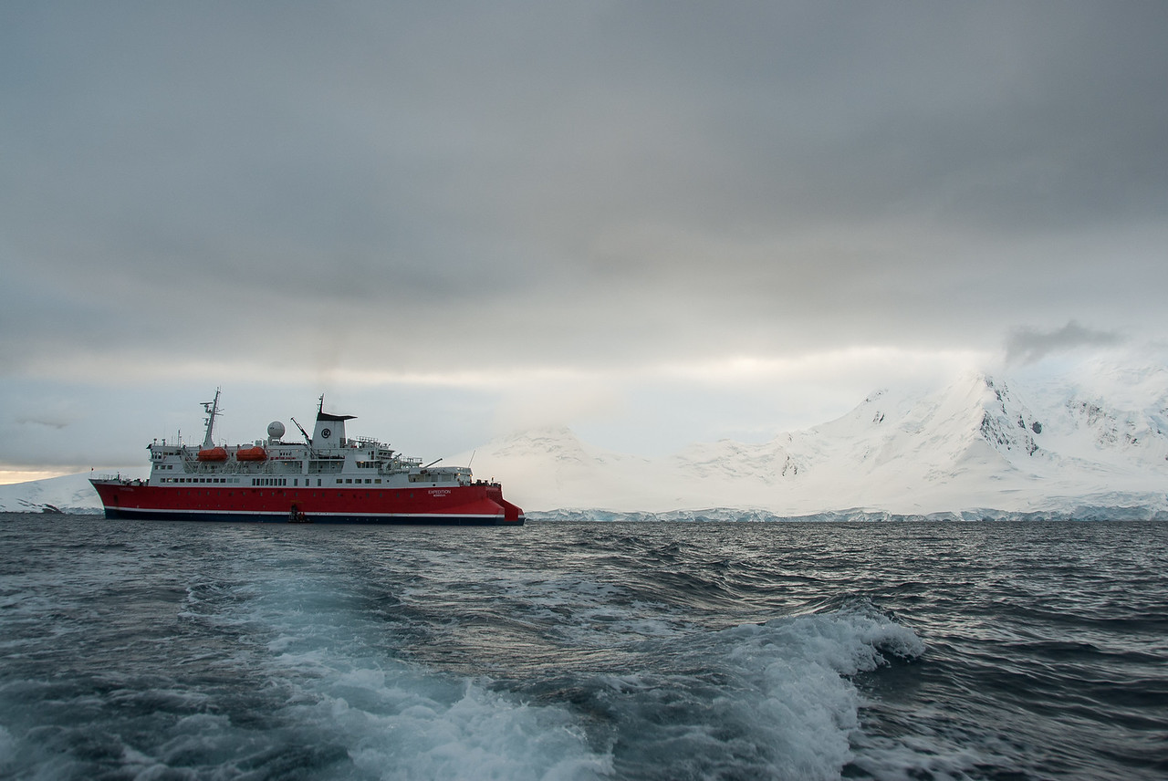 M/S Expedition at Port Lockroy