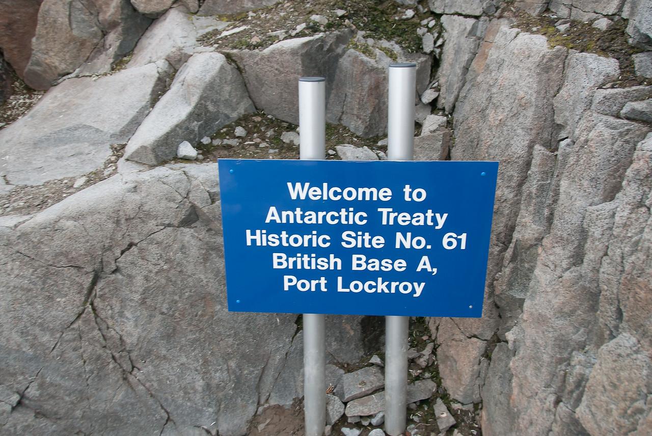 Former British base in Port Lockroy