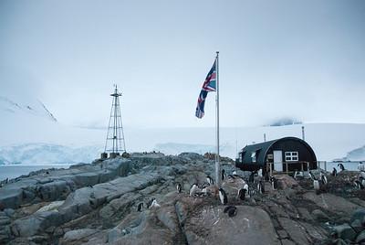 British flag at Port Lockroy