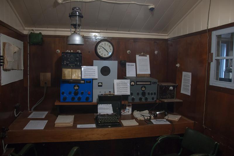 Inside former British base at Port Lockroy