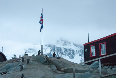 The abandoned British base at Port Lockroy