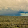 A big storm in the distance, in the seas approaching our northernmost landing spot in South Georgia.