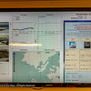 Weather information screen at Palmer Station