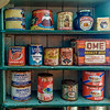 Very old food provisions at museum in Port Lockroy