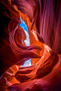 Lower Antelope Canyon Lady in the Wind Fine Art Landscape Nature Photography