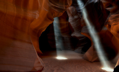 Light Beams - Navajo Antelope Canyon - Paige, AZ