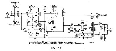 Here is the schematic of the venerable T/R switch.