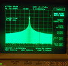Noise spectrum is narrow and easily moved across the band.