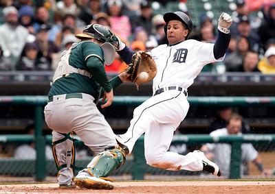 APTOPIX Athletics Tigers Baseball