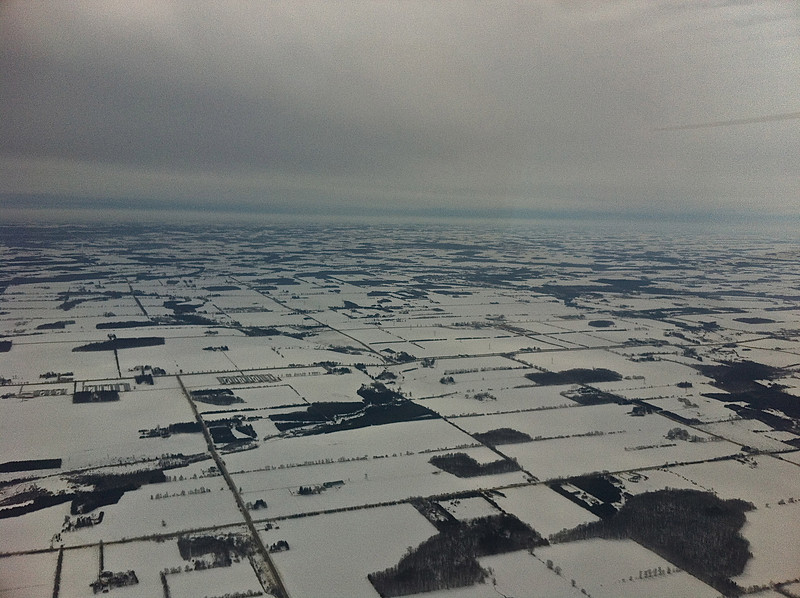 This is off to the left, just north of Guelph.