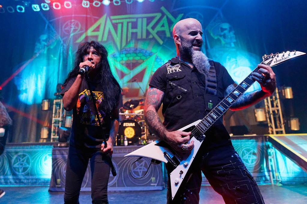 . Anthrax live at Fillmore Detroit on 4-8-2017.  Photo credit: Ken Settle