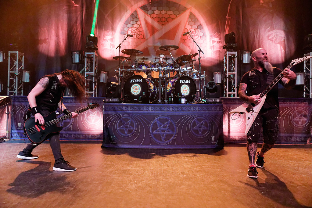 . Anthrax live at Fillmore Detroit on 4-8-2017.  Photo credit: Ken Settle