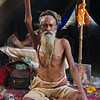This highly revered naga baba has been holding his arm erect for the past 35 years in honor of Rama (God), Lord Shiva, in hopes of releasing the Ego.<br /> Kumbh Mela, Haridwar, India