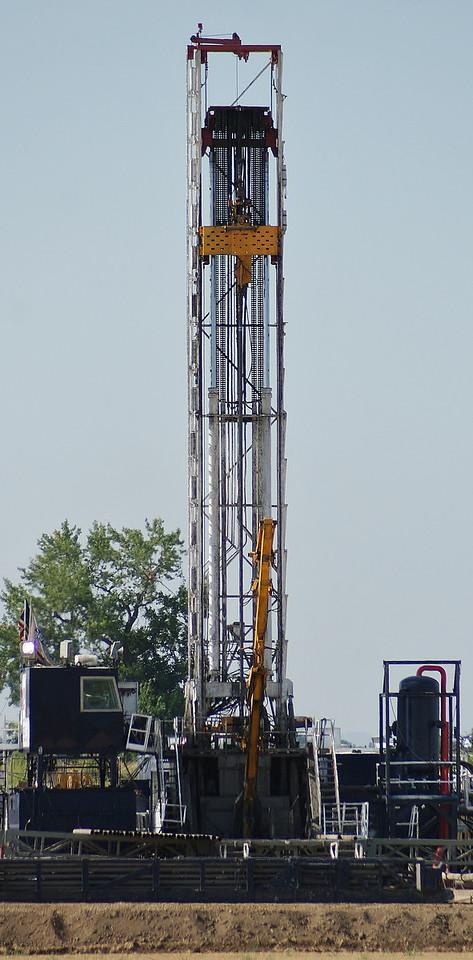 Fracking site near Lafayette, in Boulder County, Colorado.