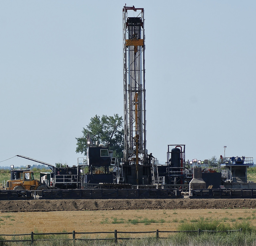 Fracking site near Lafayette, in Boulder County, Colorado.