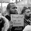New York, New York - January 25, 2017: Anti-Trump Emergency Rally for Muslim and Immigrant Rights<br /> in Washington Square Park on January 25, 2017 in Manhattan, New York. Photo by Lukas Maverick Greyson © 2017 LMG