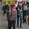 "These protesters were among those at the ""Defend Our Constitution"" march in Denver."