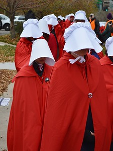 Pence Handmaids Protest (3)